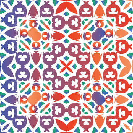 Traditional ornate mexican talavera. Vector seamless pattern poster. Fashionable design. Red abstract background for web backdrop, print, pillows, surface texture, wallpaper, towels.