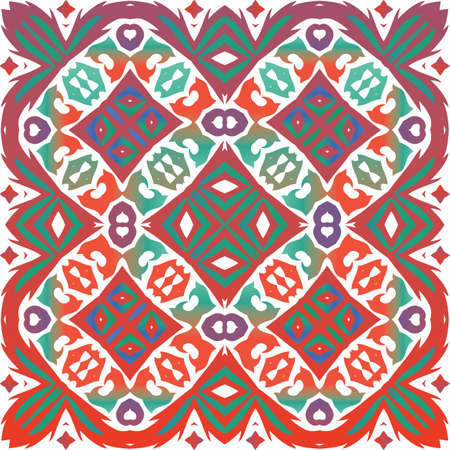 Traditional ornate mexican talavera. Minimal design. Vector seamless pattern concept. Red abstract background for web backdrop, print, pillows, surface texture, wallpaper, towels.