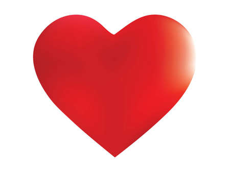 Chromatic background in the form of a heart. Trendy style of 90th, 80th. Soft color art. Red effective modern screen design for brochure, calendar, cards or invitation. 矢量图像