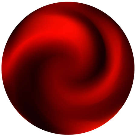 Round smooth blurred background. Minimal backdrop in style of 90th, 80th. Trendy soft color illustration. Red modern abstract cover for your graphic design or creative projects.