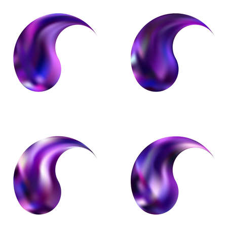 Set of gradient backgrounds with yin or yang. Trendy soft color icon. Creative original east style. Violet modern, natural covers for your creative projects and graphic design. Stock Illustratie