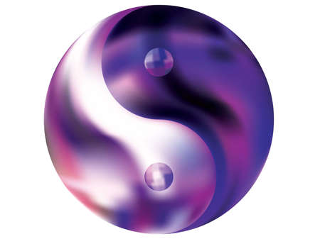 Colored background in the form of yin yang. Neon original liquid theme. Trendy soft color backdrop. Violet eco fluid template for your poster, presentation, invitation, brochure or cards.