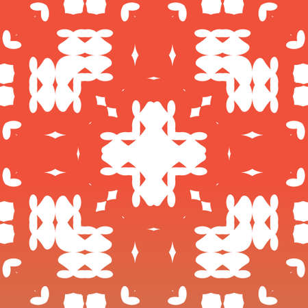 Traditional ornate mexican talavera. Hand drawn design. Vector seamless pattern theme. Red abstract background for web backdrop, print, pillows, surface texture, wallpaper, towels.