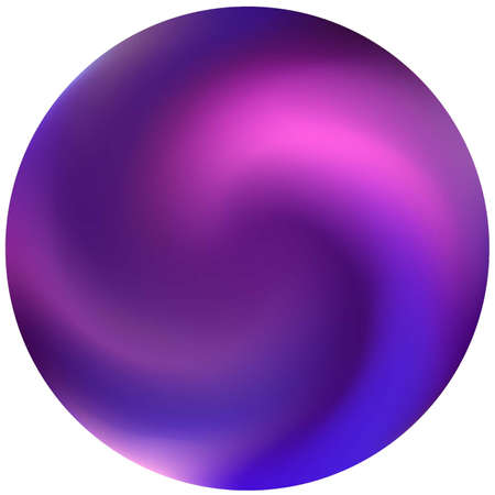 Round smooth blurred background. Holographic backdrop in style of 90th, 80th. Trendy soft color theme. Violet modern abstract cover for your graphic design or creative projects. Vettoriali