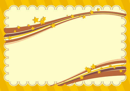 diploma border: Yellow frame with stars