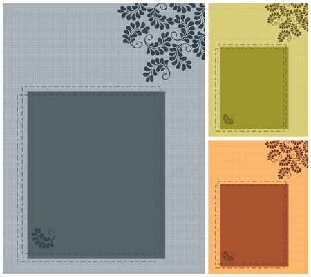 Set wedding invitation Stock Vector - 10817806