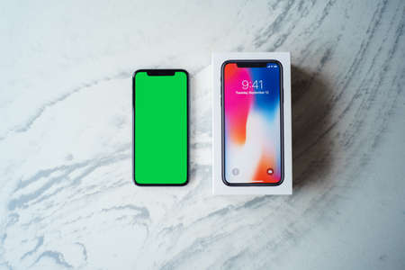 iphone 10 x with box illustrativeeditorial