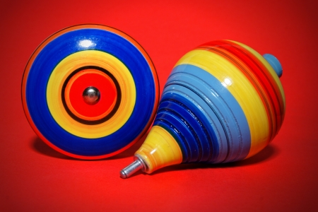 Beautiful shot of mexican wooden toys, Trompo   Yoyo