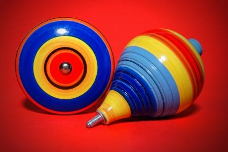 Mooi schot van Mexicaanse houten speelgoed, Trompo Yoyo Stockfoto