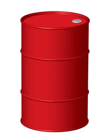 oil drum: Red Oil Drum Illustration