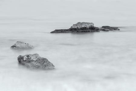 Landscape with long exposure in Rodalquilar. Natural Park Cabo de Gata. Spain.