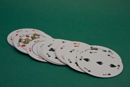 earns: round playing cards