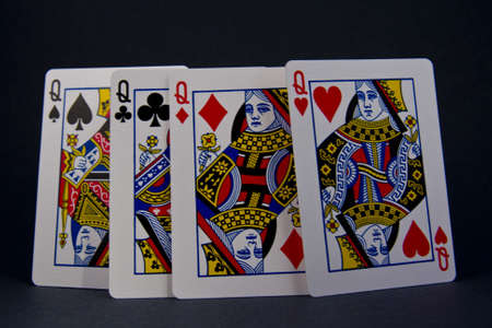 playing cards, kings and queens