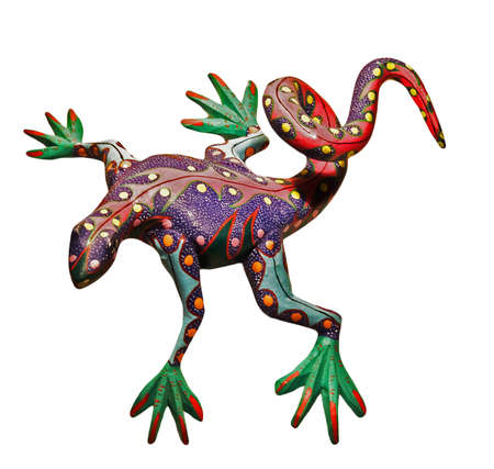 mexican crafts representing an iguana, in wood Stock Photo - 3842984