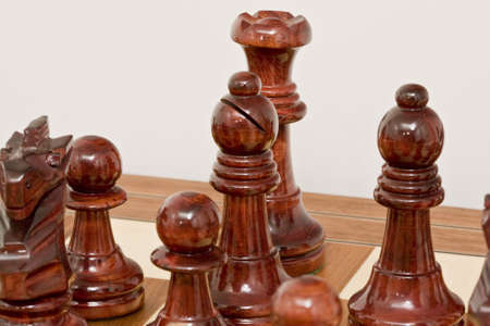pieces of chess placed on the board Stock Photo - 3905069