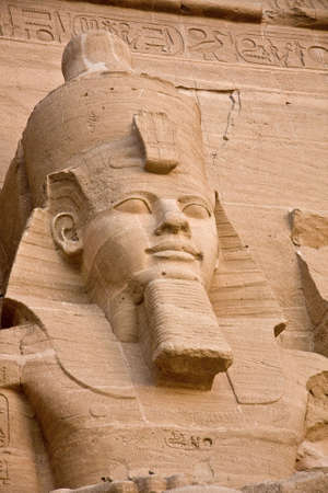 abu simbel: The temple of Abu Simbel in the Nubian Desert in Egypt. Stock Photo