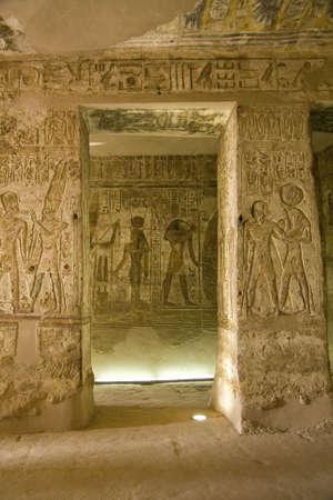 tumbas: Detalles del arte egipcio. Un ejemplo del arte de los faraones.