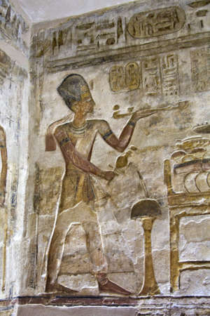 egypt anubis: Details of Egyptian art. An example of the art of the pharaohs. Stock Photo