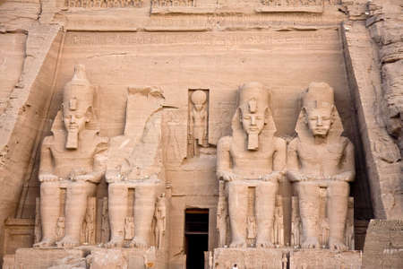 Abu Simbel. Details of Egyptian art. An example of the art of the pharaohs. photo
