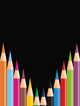 illustration representing drawing pencils of different colors. Stock Vector - 5872250