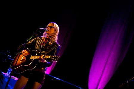 mann: LISBON, PORTUGAL - NOVEMBER 8 -  Aimee Mann performs live at Aula Magna on November 8 2013 in Lisbon Portugal. (Photo by Eduardo Ventura)