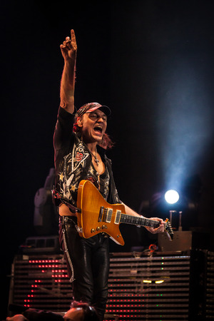 lead guitar: MEO Arena, Lisbon, Portugal - March 10, 2014 - Scorpions perform live