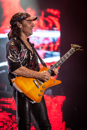 MEO Arena, Lisbon, Portugal - March 10, 2014 - Scorpions perform live
