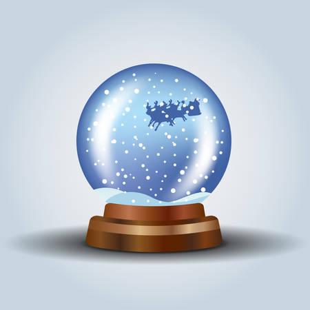 augur: Snow globe with Santa Illustration