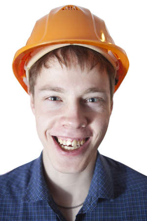 Portrait of a happy young engineer. Stock Photo - 17276559