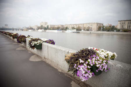 The embankment of the Moscow river  Stock Photo - 17317291