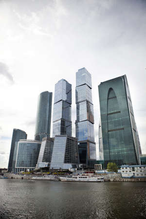Moscow International Business Center and Moscow river  Stock Photo