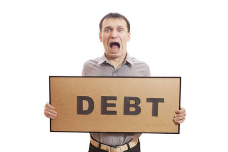 Conceptual photography, humans have financial problems. Stock Photo - 17496734