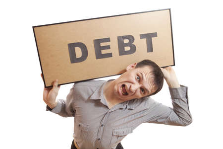 Conceptual photography, humans have financial problems. Stock Photo - 17496724