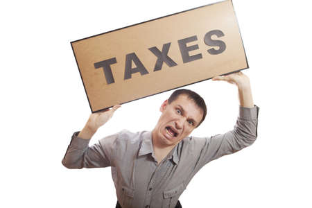 Conceptual photography, humans have financial problems. Stock Photo - 17496720