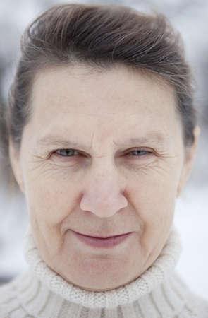 Portrait old women. Stock Photo