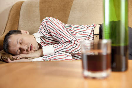 sleeping at desk: The man and the problem of alcohol