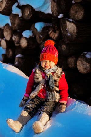 Child on winter