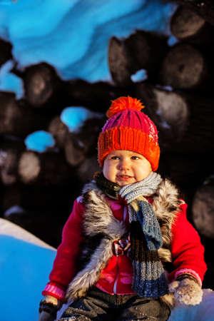 Child on winter photo