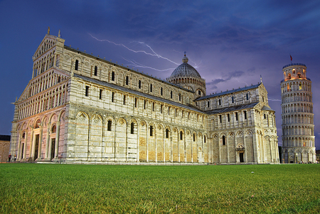 Piazza del Duomo, the Leaning Tower of Pisa, Tuscany, Italy