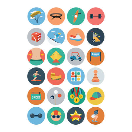 cue sports: Sports Flat Icons