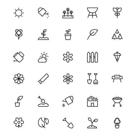 Gardening Line Vector Icons 1 Illustration