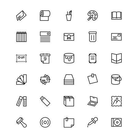 paint container: Stationery Line Icons 4