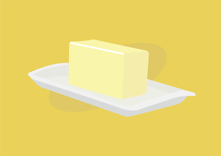 Butter vector Isolated Illustration 일러스트