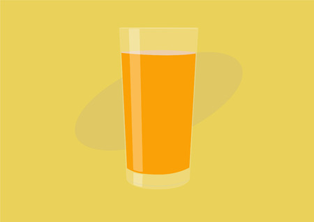 Orange Juice Glass, Vector Illustration, Isolated - Vector 일러스트