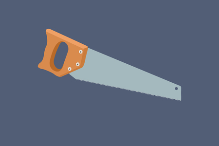 Vector Illustration of a Handsaw Isolated - Vector