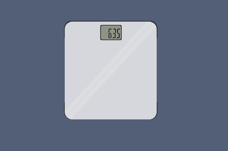 ector Isolated Illustration of a Weighing Machine