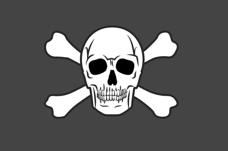 Vector Illustration of a Pirate Flag with a Skull and Two Crossed Bones