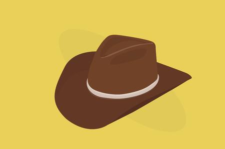 Vector Illustration of a Cowboy Hat Çizim