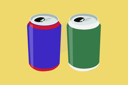 Vector Isolated Illustration of Cans