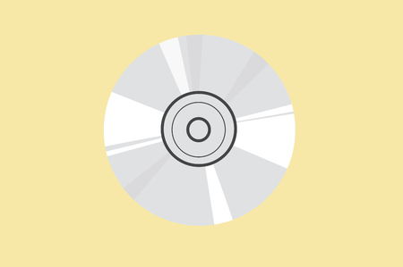 Vector illustration of a Compact Disc Çizim